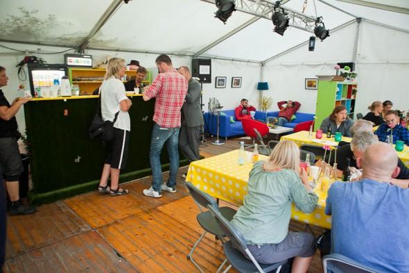 Presse telt komplet med bar
