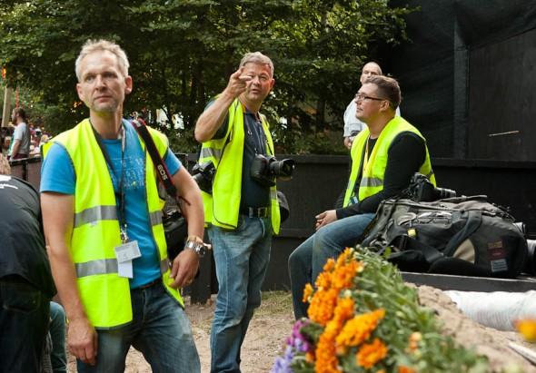 Hårdt arbejdende fotografer