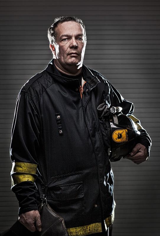 Portræt af en brandmand