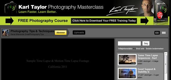 Karl Taylor Photography @ Youtube
