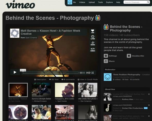 Behind the Scene Photography @ vimeo