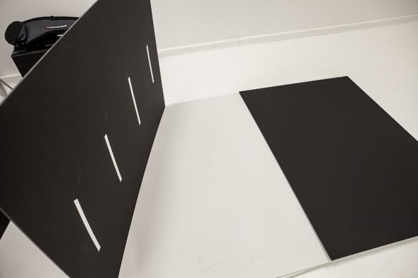 V-flats sammen klæbning af plader