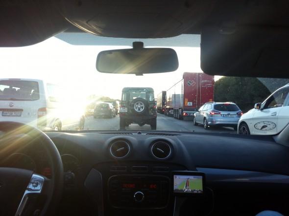 Mega kø på vej til Köln :(