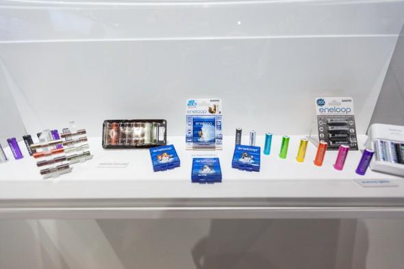 Batterier fra Eneloop i alle farver