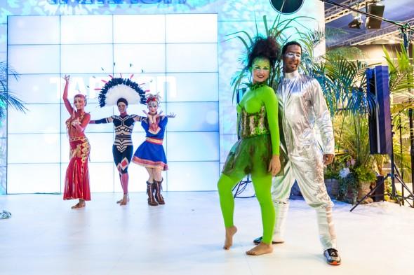Danse show hos Tamron