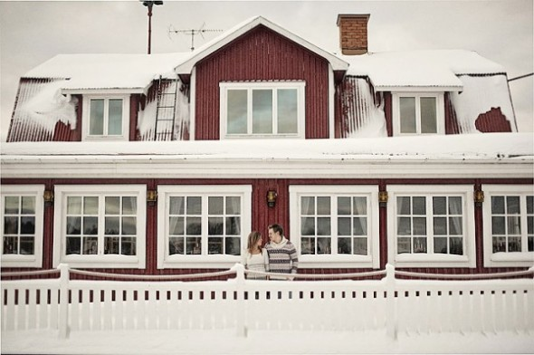 Vinter bryllup - by http://nordicaphotography.com/