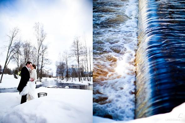 Vinter bryllupsfoto - by http://www.lindisima.se/