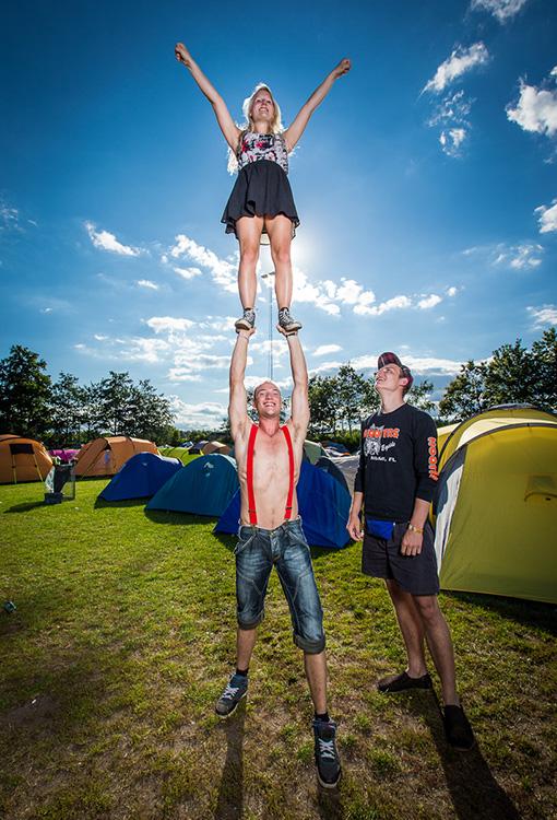 Fest og stemning på Smukfest camping