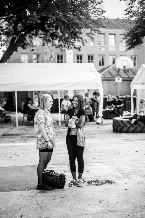 Unge piger fotograferet til Herning Upcoming Festival