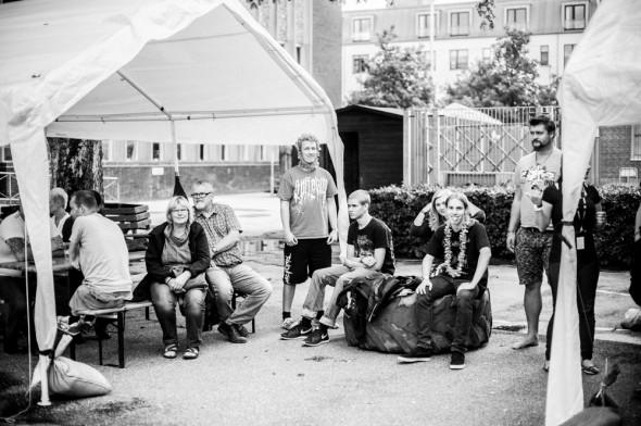 Fest glade mennesker fotograferet i Herning
