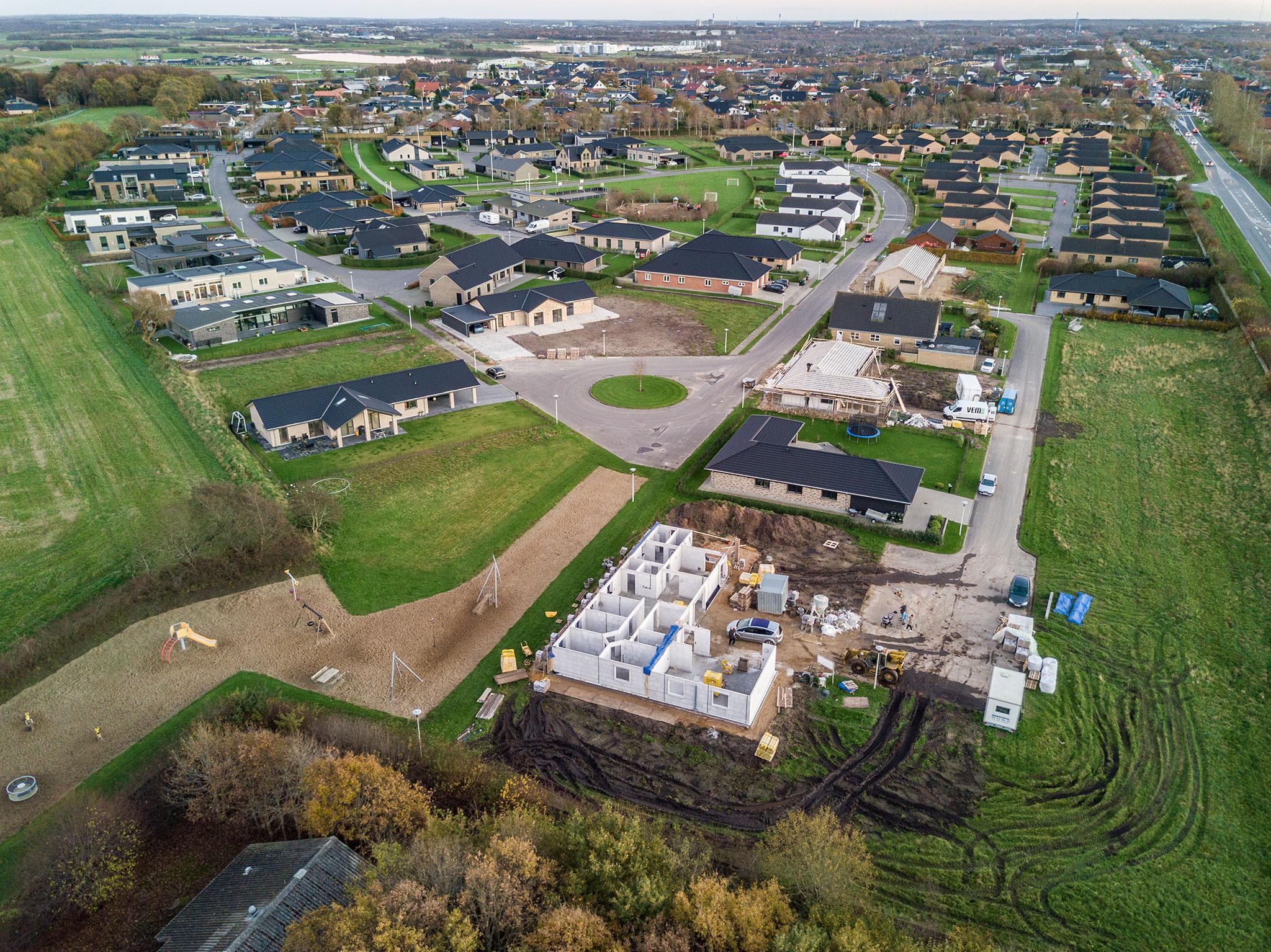 Dronefoto fra Herning