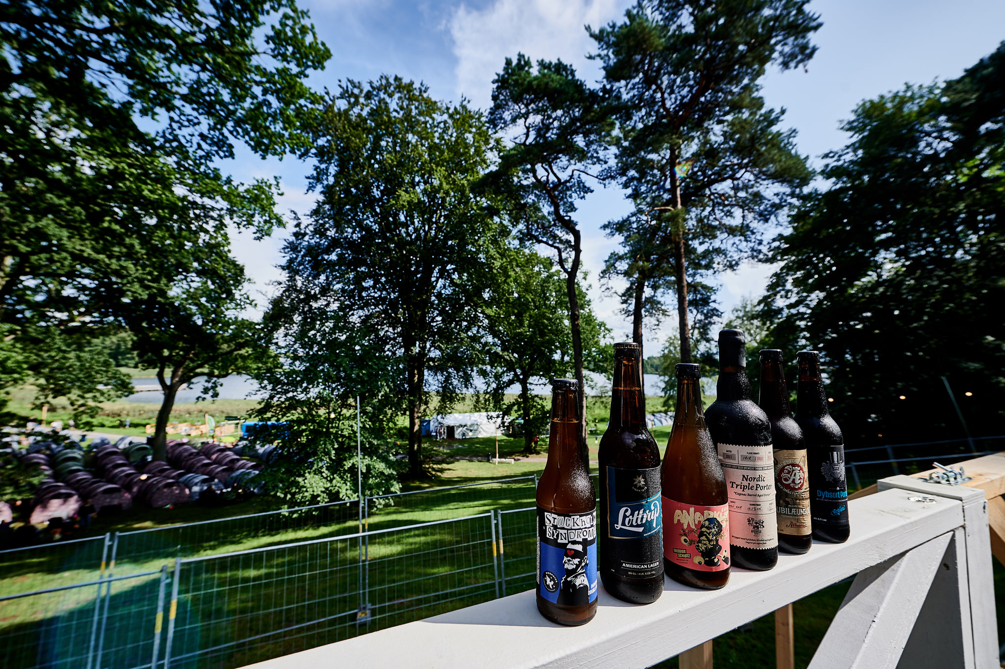 Øl udvalget til ølsmagning på Smukfest 19