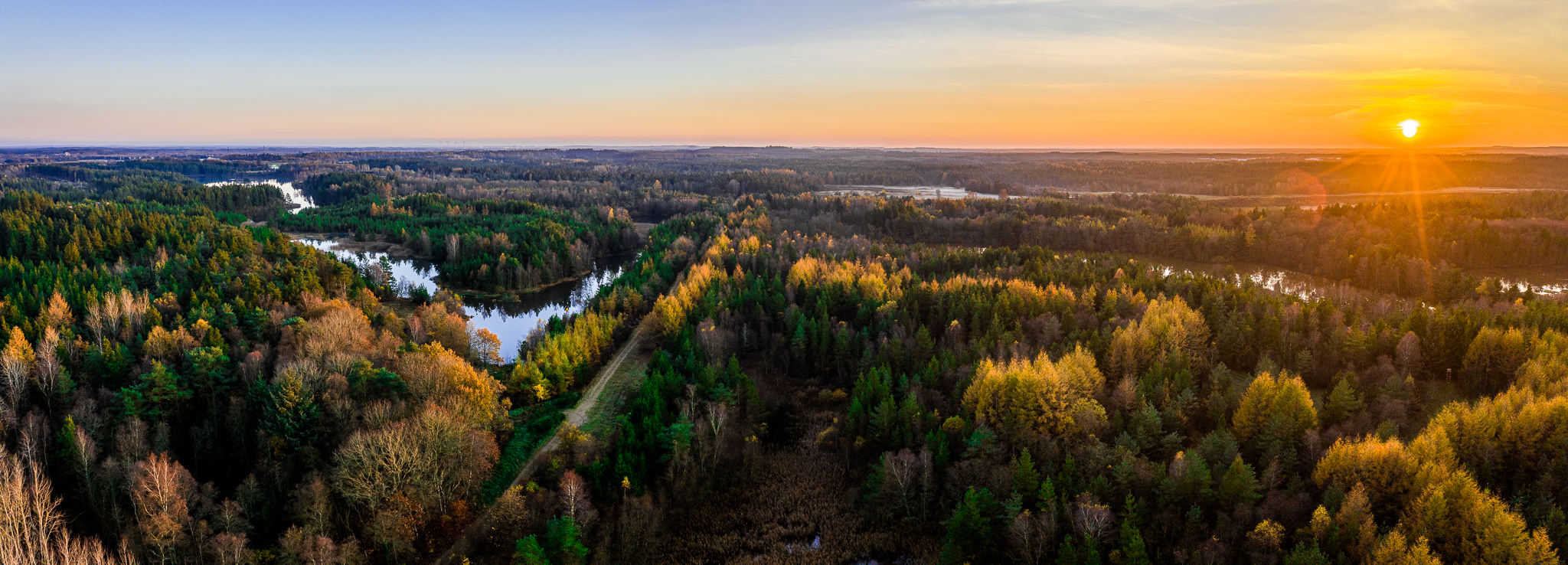 Luftfoto panorama Herning fotograf