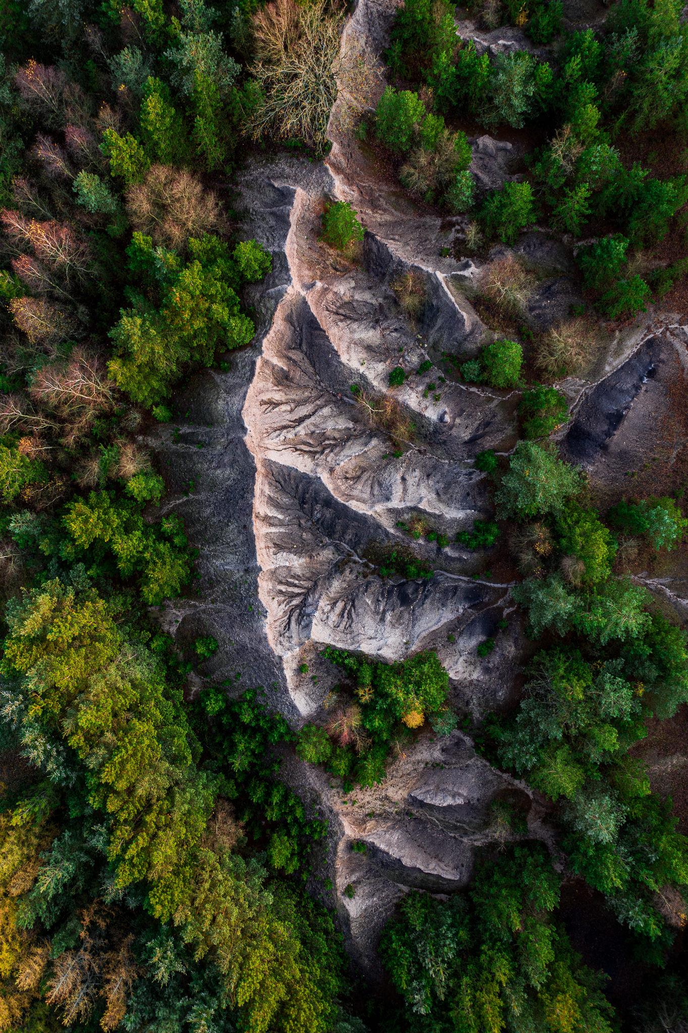 Kunstfoto fra luften - fotograf Herning