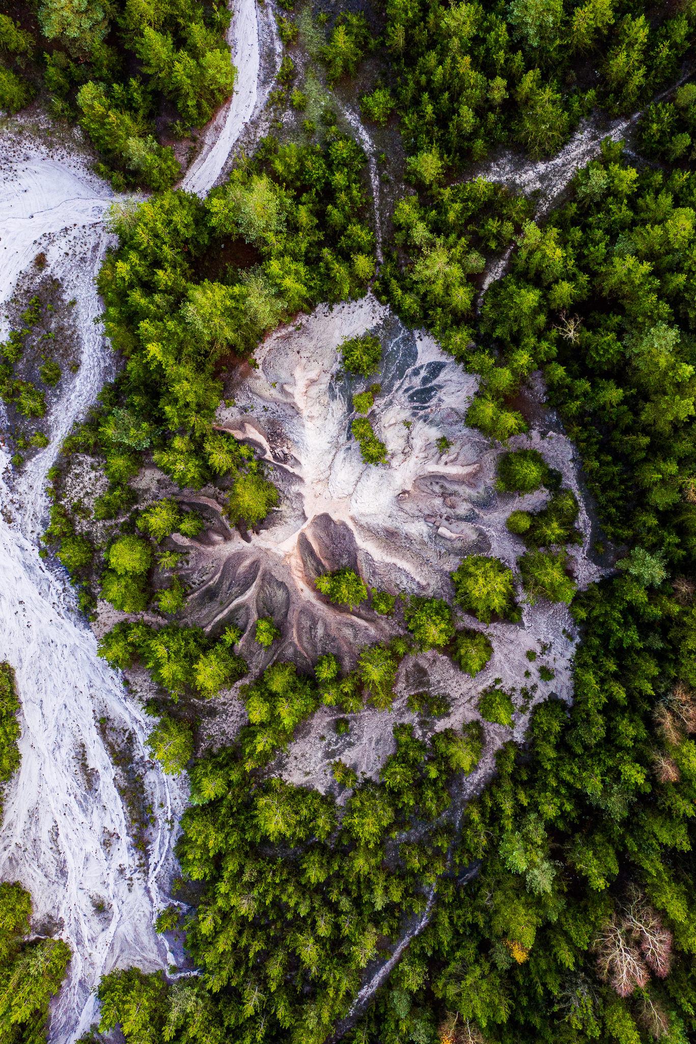 Dansk bjerg fotograferet fra drone