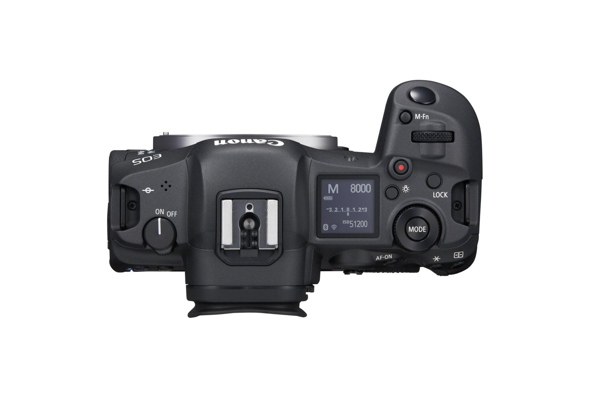 Canon EOS R5 - Top view