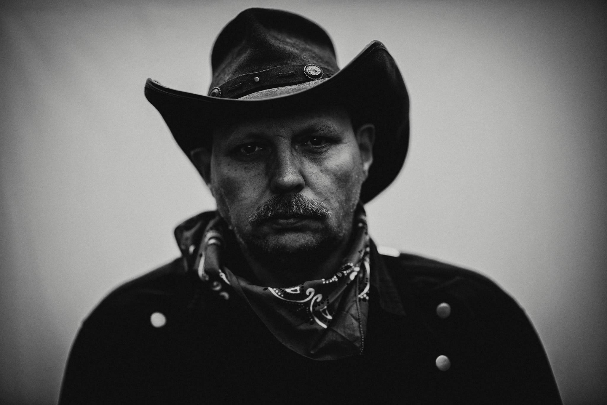 Portræt fotograf af cowboy